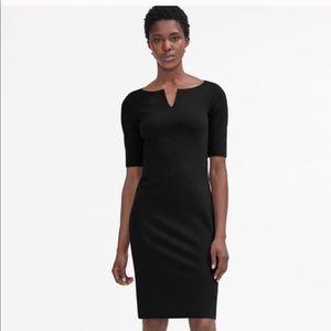 MM LaFleur Black Narie V Neck Dress